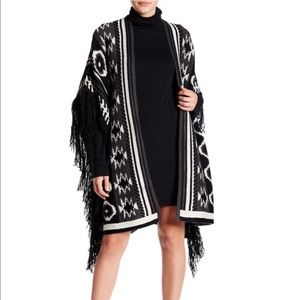 """ROMEO and JULIET COUTURE """"Poncho with Fringe"""""""